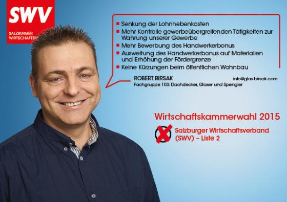 Robert Birsak - Fachgruppe 103: Dachdecker, Glaser und Spengler