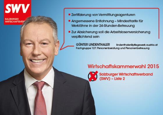 Günter Lindenthaler -  Fachgruppe 127: Personenberatung und Personenbetreuung