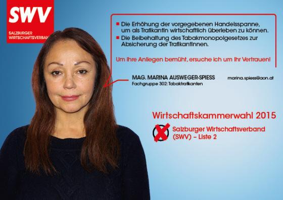 Mag. Marina Ausweger-Spiess - Fachgruppe 302: Tabaktrafikanten