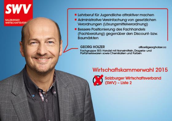Georg Holzer - Fachgruppe 303: Handel mit Arzneimitteln, Drogerie- und Parfümeriewaren sowie Chemikalien und Farben