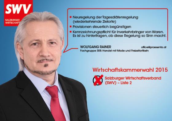 Wolfgang Rainer - Fachgruppe 308: Handel mit Mode und Freizeitartikeln