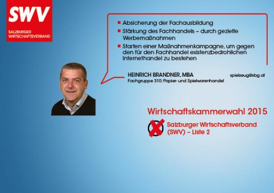 Heinrich Brandner - Fachgruppe 310: Papier- und Spielwarenhandel
