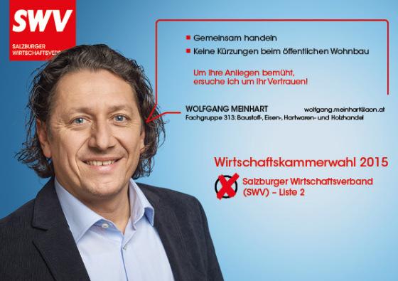 Wolfgang Meinhart - Fachgruppe 313: Baustoff-, Eisen-, Hartwaren- und Holzhandel