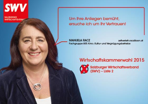 Manuela Racz - Fachgruppe 605: Kino-, Kultur- und Vergnügungsbetriebe
