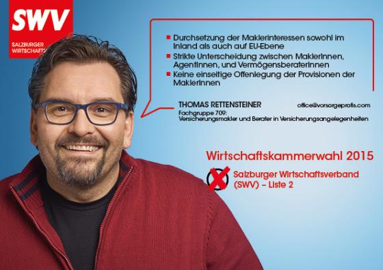 Thomas Rettensteiner - Fachgruppe 709:  Versicherungsmakler und Berater in Versicherungsangelegenheiten