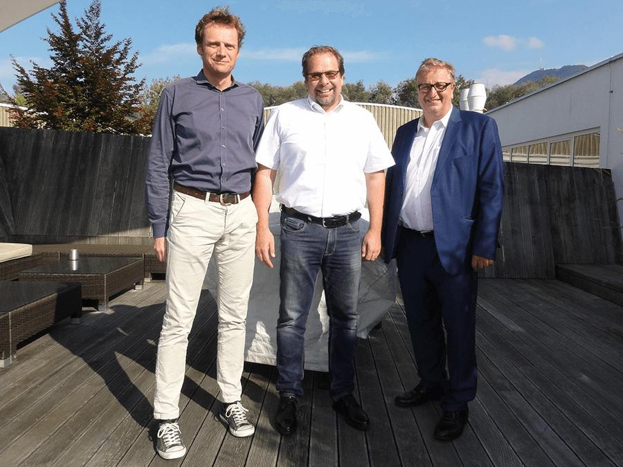 Andreas Gfrerer, Wolfgang Reiter und Christoph Matznetter
