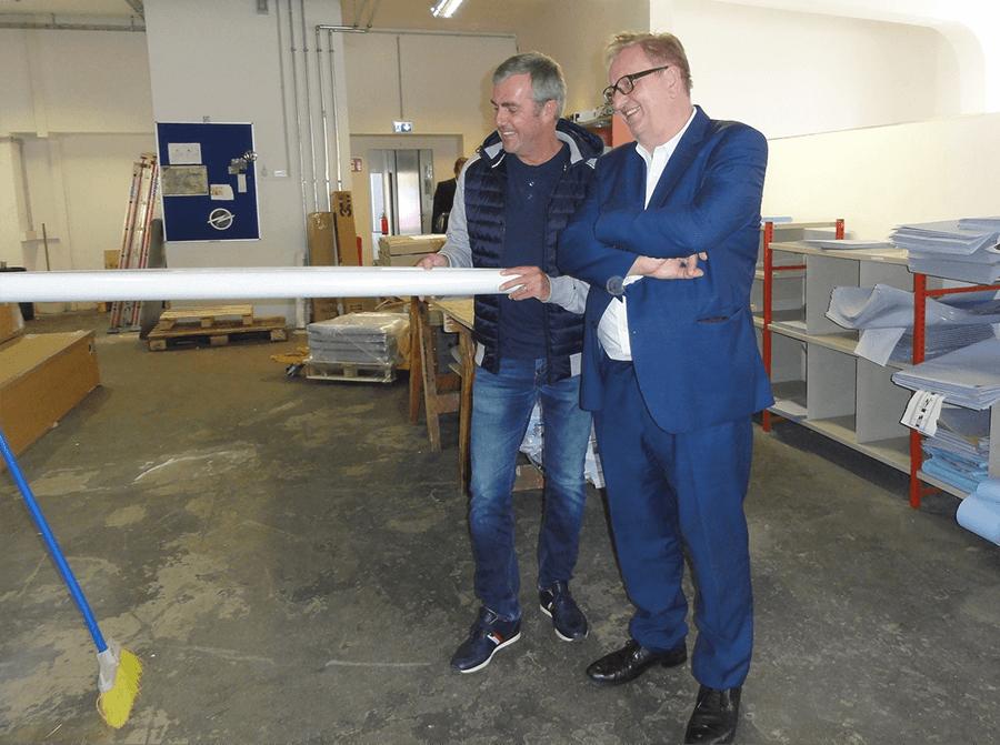 Fred Kendlbacher von Progress Werbung mit Christoph Matznetter