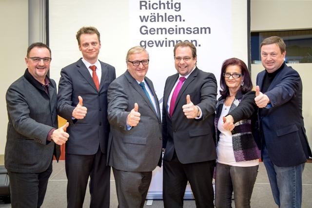 Präsidenten und Vizepräsidenten mit Andreas Gfrerer