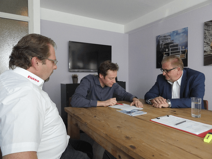 Wolfgang Reiter, Andreas Gfrerer mit Christoph Matznetter im Gespräch