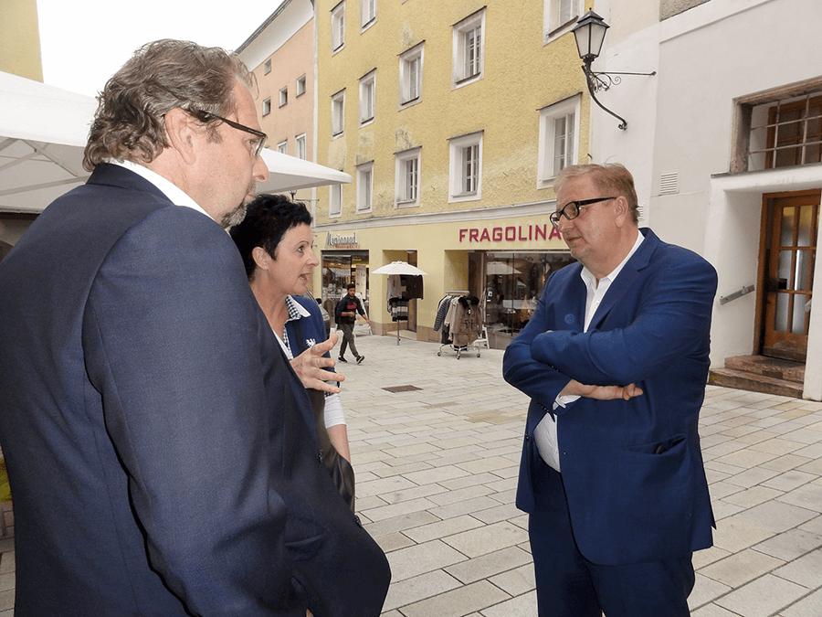 Christoph Matznetter im Gespräch mit Alexandra Priewasser aus Hallein und Wolfgang Reiter