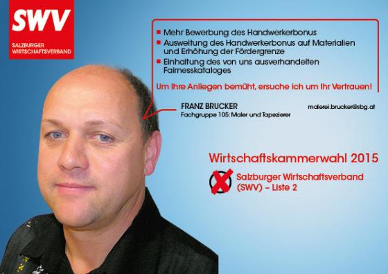Franz Brucker - Fachgruppe 105: Maler und Tapezierer
