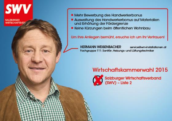 Hermann Weißenbacher - Fachgruppe 111: Sanitär-, Heizungs- und Lüftungstechniker