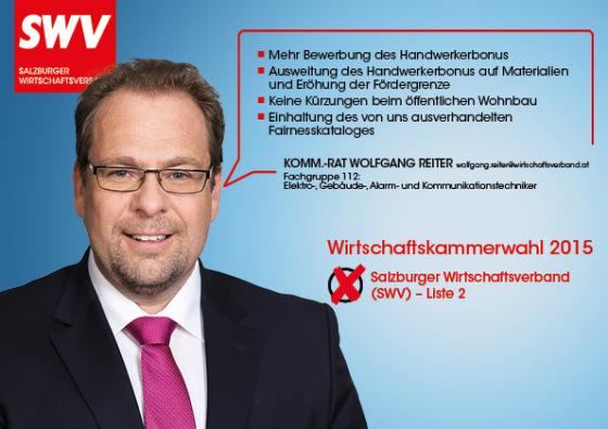 Komm.-Rat Wolfgang Reiter - Fachgruppe 112:  Elektro-, Gebäude-, Alarm- und Kommunikationstechniker