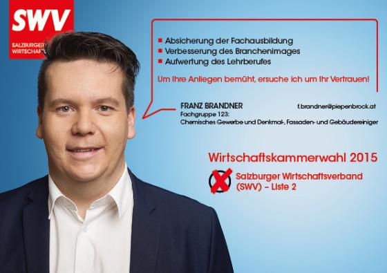 Franz Brandner - Fachgruppe 123:  Chemisches Gewerbe und Denkmal-, Fassaden- und Gebäudereiniger