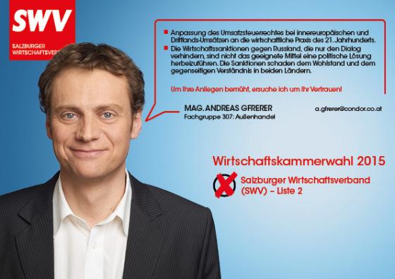 Mag. Andreas Gfrerer - Fachgruppe 307: Außenhandel