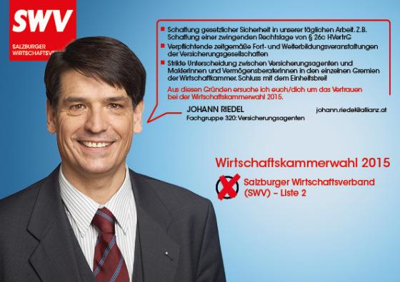 Johann Riedel - Fachgruppe 320: Versicherungsagenten