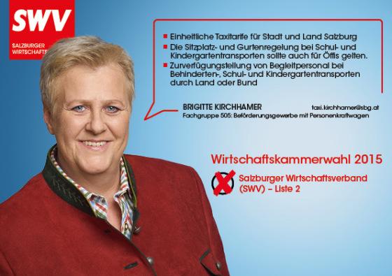 Brigitte Kirchhamer - Fachgruppe 505: Beförderungsgewerbe mit Personenkraftwagen