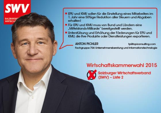 Anton Pichler - Fachgruppe 704: Unternehmensberatung und Informationstechnologie