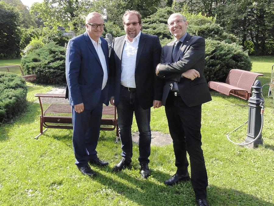 Christoph Matznetter mit Wolfgang Reiter zu Besuch im Parkhotel Brunauer (Thomas Pfanner)
